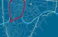 Figura 1 - Mappa di Padova con le mura cinquecentesche
