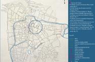 Figura 3 - Pianta di Padova con indicazioni topografiche dei rinvenimenti archeologici